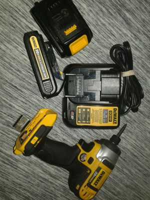Dewalt 20vlt lithium ion. Batteries ×2/ charger for Sale in Wichita, KS