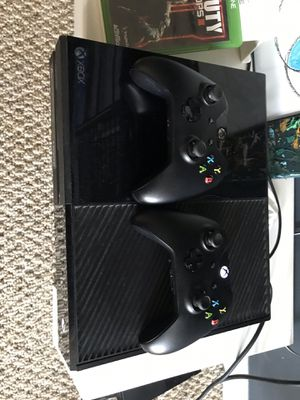 Xbox one with games and controllers for Sale in Centreville, VA