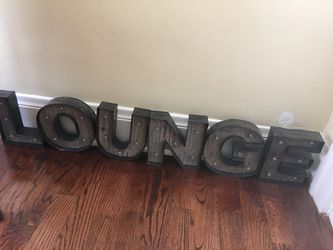 Marquee Alphabet Letters LOUNGE or NOEL for Sale in Miami,  FL