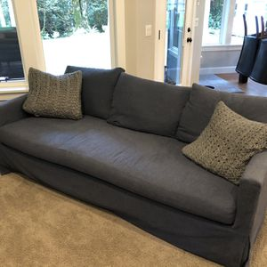 2 - Williams Sonoma/Pottery Barn Down Filled Couch for Sale in Scappoose, OR
