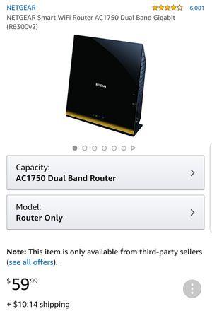Netgear smart wifi router ac1750 for Sale in Las Vegas, NV