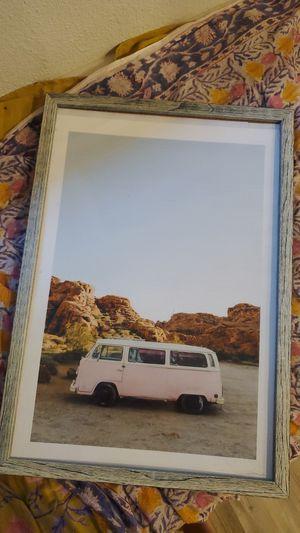 Volkswagen pink bus framed print for Sale in Austin, TX