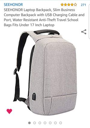 Seehonor anti theft laptop backpack for Sale in Clearwater, FL