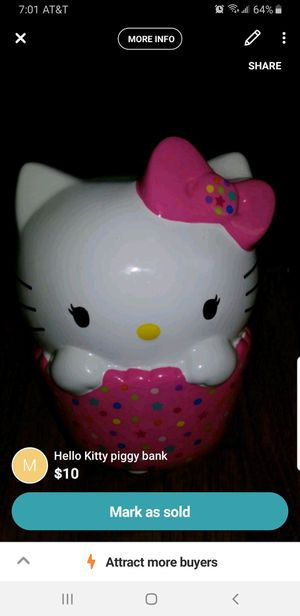 Hello Kitty piggy bank for Sale in Mystic Islands, NJ