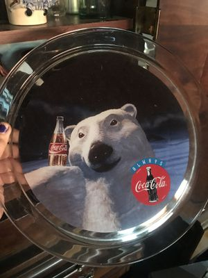 """Vintage Collectable Coca-Cola Polar Bear campaign glass platter (13""""). for Sale in Los Angeles, CA"""