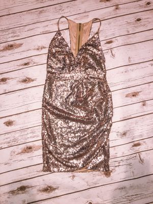 Gold sequin dress for Sale in Fontana, CA