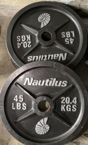 Nautilus Olympic weight 45 lbs for Sale in Kent, WA