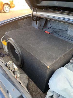 Sundown audio SA-15 rev 3 750 watts rms $200 firm with custom box. for Sale in Waddell, AZ