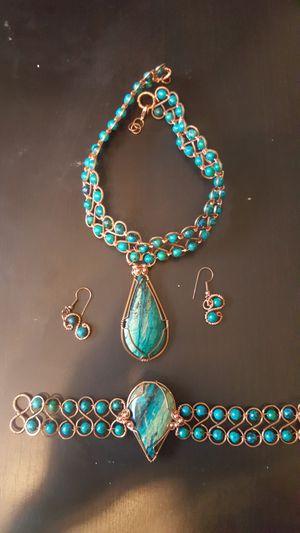 Persian jewelry full turquoise set for Sale in Salt Lake City, UT