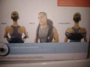 Cordless shiatsu neck & back massager with heat for Sale in Duarte, CA
