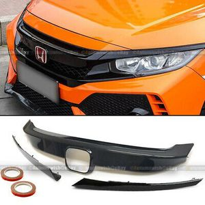16-18 Civic Carbon Fiber Painted Grille Cover Chrome Delete Trim & Eye Lid for Sale in Pomona, CA