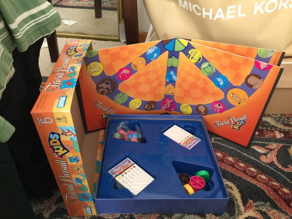 Trivial pursuit for kids, game