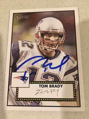 Tom Brady Autographed Card with COA for Sale in Flora, IN