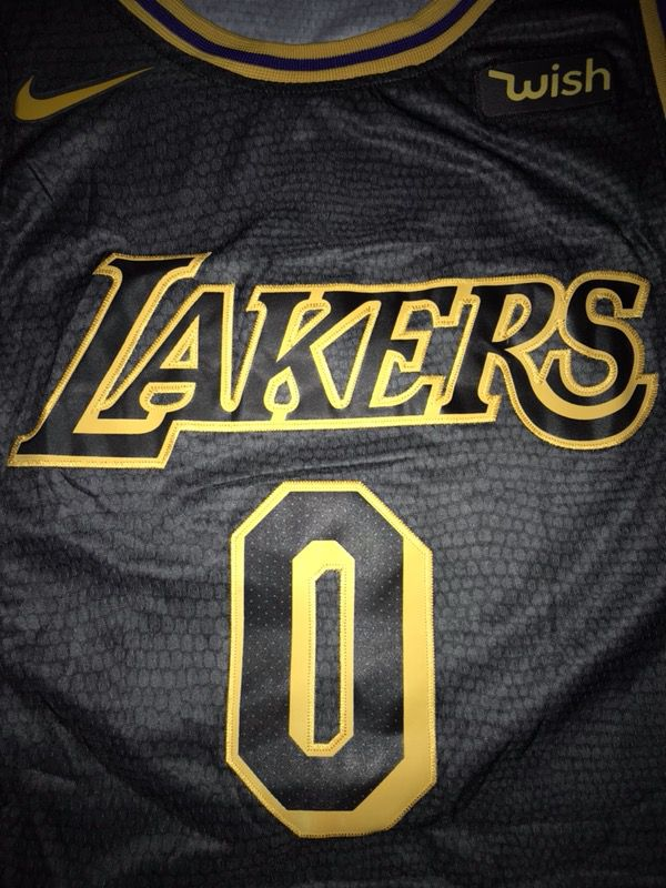 "d89f55669e4 NWT Swingman ""Black Mamba"" Jersey KYLE KUZMA  0 Los Angeles Lakers ..."