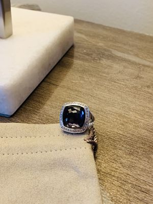 David Yurman 14m Albion black orchard diamond ring size 7 for Sale in Queens, NY