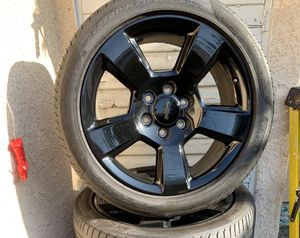 20 inch rims black eddition 6 lugs for Sale in Rowland Heights, CA