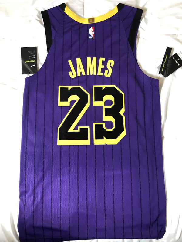 d190c40bf03 NIKE LEBRON JAMES AUTHENTIC CITY EDITION JERSEY for Sale ...