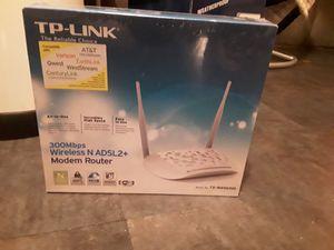 TP-Link N300 ADSL2+ Wireless Wi-Fi Modem Router (TD-W8961ND) for Sale in Seattle, WA