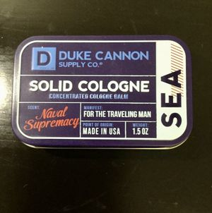 Duke Cannon Men's Solid Cologne, 1.5 ounce - Sea Naval Supremacy Scent for Sale in Brooklyn, NY