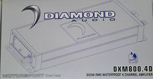 Brand New Diamond Audio 4-channel waterproof amplifier for Sale in Tucson, AZ