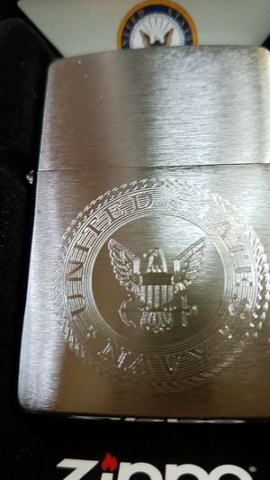 Zippo us navy brushed chrome 29385 for Sale in Los Angeles, CA