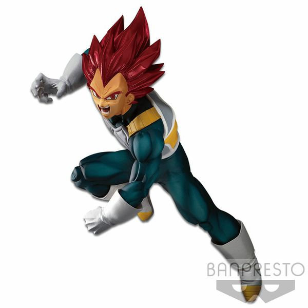 Japanese anime Dragon Ball Z Blood of Saiyans Special Ver. Vol. 7: Super Saiyan God Vegeta figure toy 5.9 inches