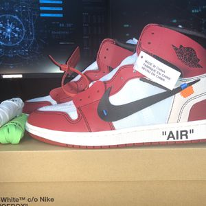 Nike Off-White Jordan 1 Retro Chicago AA3834-101 Size 9.5 for Sale in New York, NY