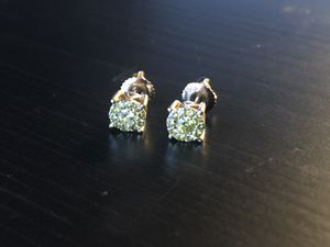 0.5 Ct Yellow Diamond Earrings with 14k Gold - REAL DIAMONDS! for Sale in Cherry Hill, NJ