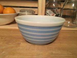 Pyrex blue stripe mixing bowl for Sale in Anaheim, CA