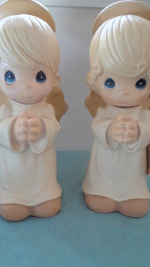 Precious Moments Praying Angels Statue Set 2700 for Sale in Tampa, FL