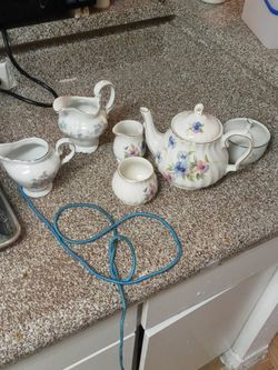 Fine antique Porcelain tea set By Windsor for Sale in Houston,  TX