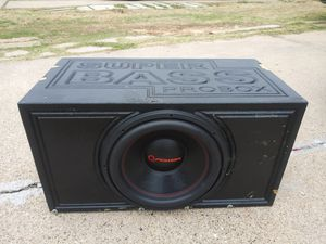 15 competition subwoofer in probox 2000 watts rms $130firm for Sale in Dallas, TX