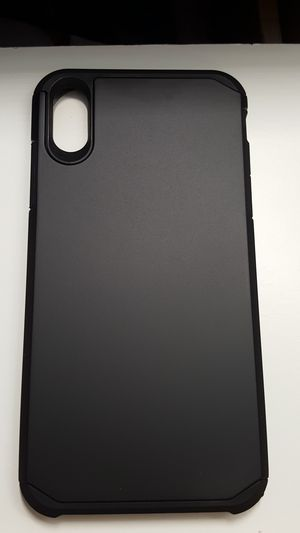 """Case for iphone xs max 6.5"""" black hardcase new 7firm now ship out of the town for Sale in Phoenix, AZ"""