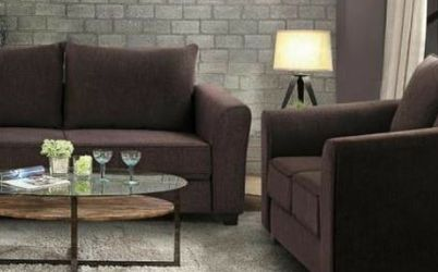New Brown Fabric Sofa and Loveseat 2pc Set for Sale in Riverdale Park,  MD
