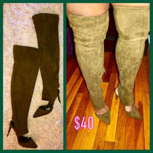Olive thigh high boots for Sale in Florissant, MO