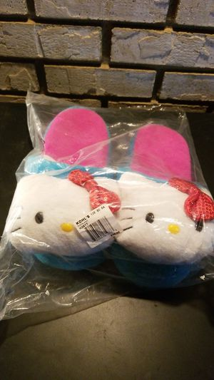 New youth girls slippers Hello Kitty blue pink sz Small 5 6 other sizes available for Sale in Clovis, CA