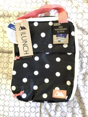 Arctic Zone lunch box, polka dot, pink and black, ice pack for Sale in Vancouver, WA