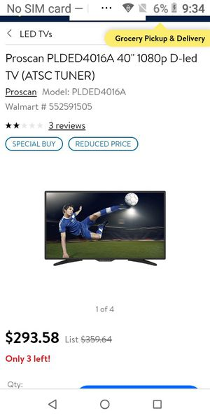 Proscan 40' LED TV for Sale in Lynnwood, WA