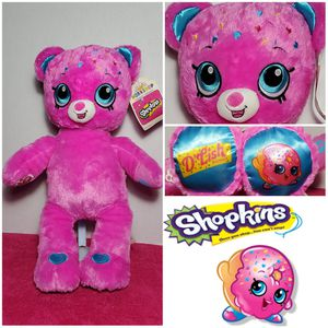 "NEW 💘 18"" Build-A-Bear Shopkins D'Lish Donut Pink Plush BABW Stuffed Soft Toy for Sale in Dale, TX"