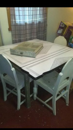 Antique table with 3 original chairs $150 for Sale in Batsto, NJ
