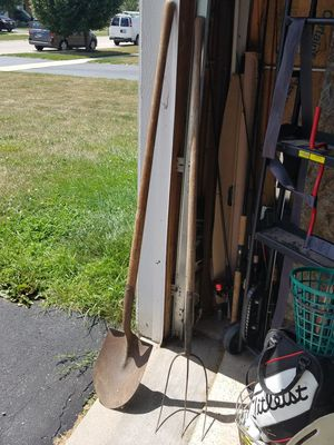 Vintage spade and pitch fork for Sale in Plano, IL