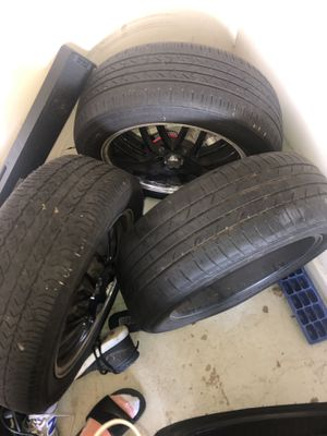 3 tires and black Mag Rims for sale 215 55 17 tires and 17in black mag rims for Sale in Smoke Rise, GA