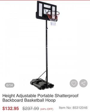 Height Adjustable Portable Shatterproof Backboard Basketball Hoop for Sale in Bakersfield, CA