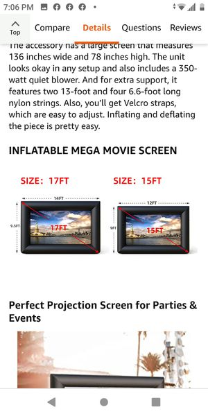 Inflatable mega movie screen 15 ft high for Sale in Bakersfield, CA