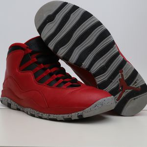 (11.5) Nike Air Jordans 10 Retro Bulls Over Broadway Mens 705178-601 Gym Red for Sale in Euless, TX