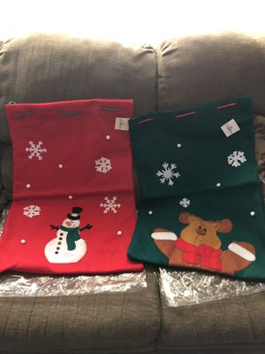 Extra large felt Christmas bags for Sale in San Antonio, TX