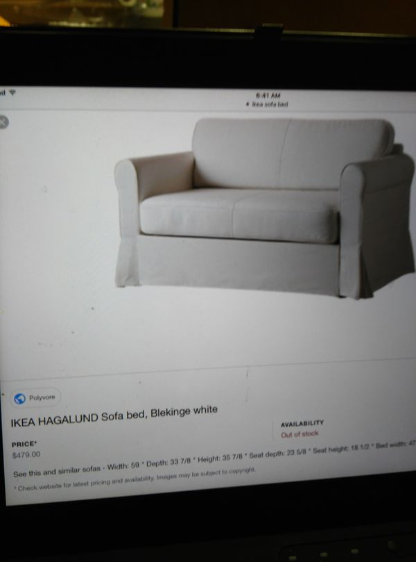 Amazing Ikea Hagalund Sofa Bed Bleking White For Sale In San Diego Bralicious Painted Fabric Chair Ideas Braliciousco