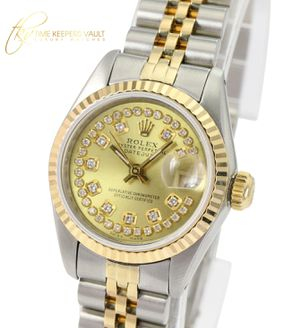 Rolex Women's Datejust Gold and Steel Silver Flower String Diamond 26mm-Quick for Sale in Los Angeles, CA