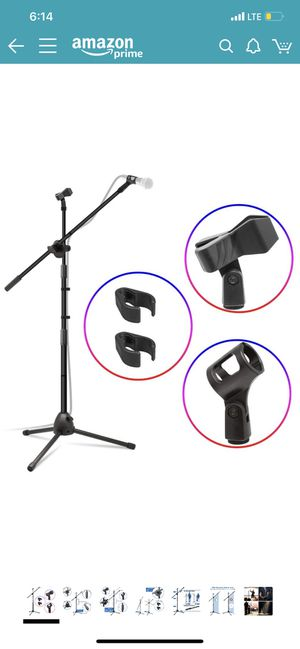 Microphone Stand, Heavy Duty Adjustable Collapsible Tripod Boom Mic Stands with 2 Mic Clip Holders for Sale in Elyria, OH