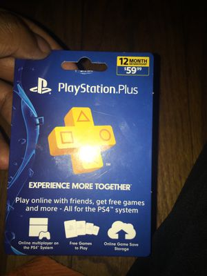 PlayStation Plus 12 month membership for Sale in Detroit, MI